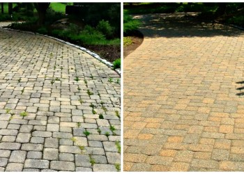 before and after driveway restoration