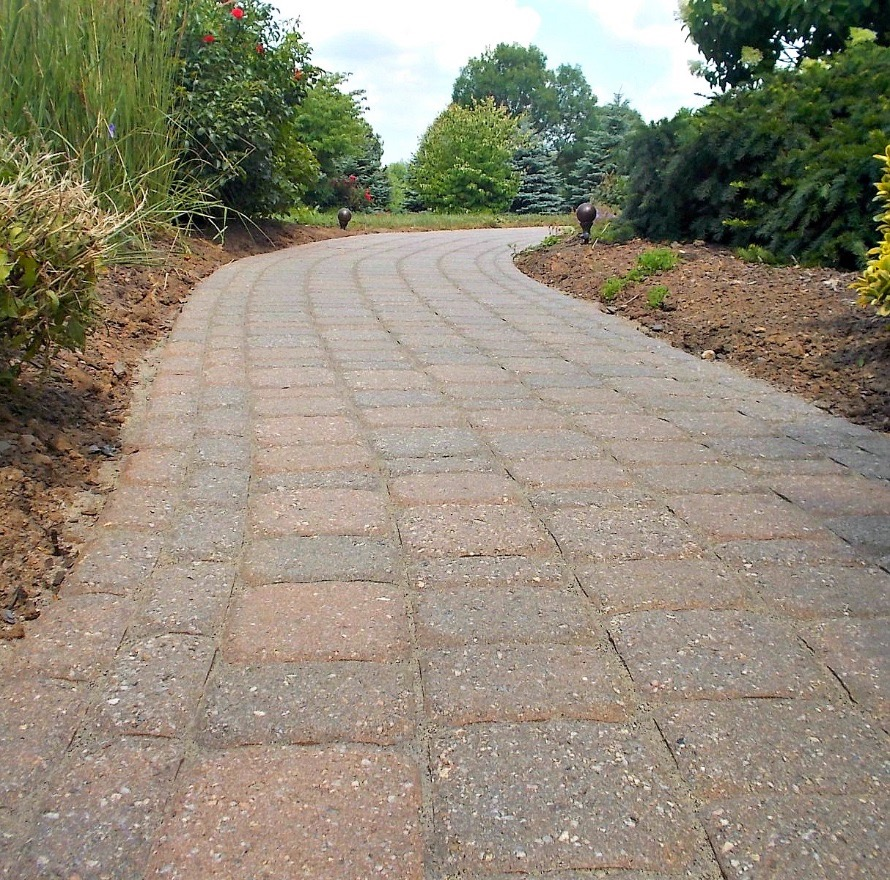 paver walkway after resealing