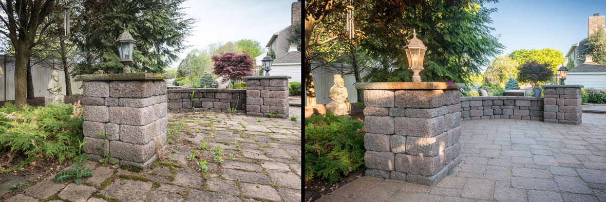 Before and after the Paver Savers Arrive